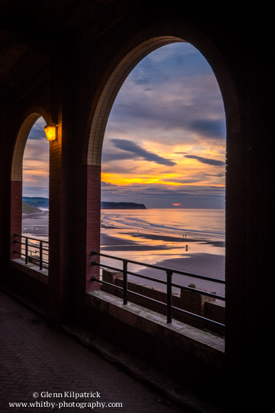 Whitby Sunset Through The Arches
