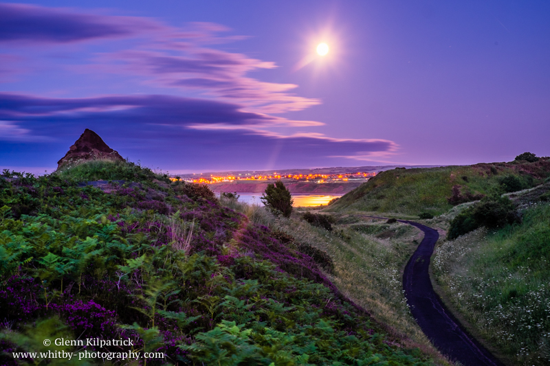 Sandiness Cliffs By Moonlight