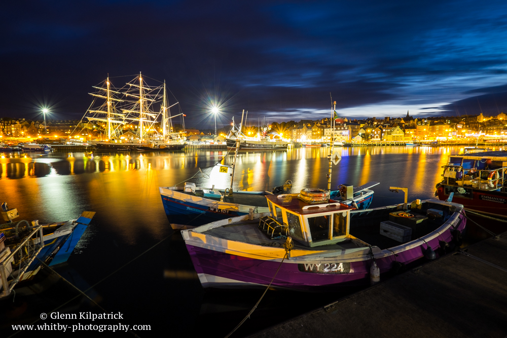 The Sailing Ship Lord Nelson in Whitby Harbour