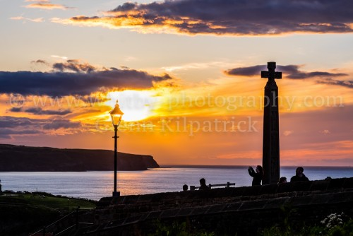Caedmons Cross At Sunset
