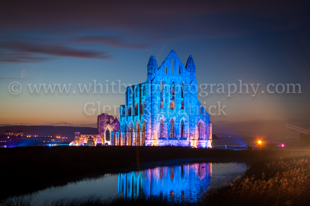 An Illuminated Whitby Abbey. Whitby Goth Weekend 2013