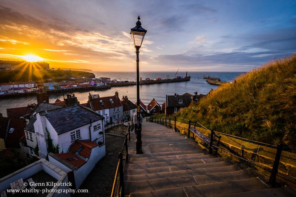 199 Steps - Regatta Sunset - Whitby Photography