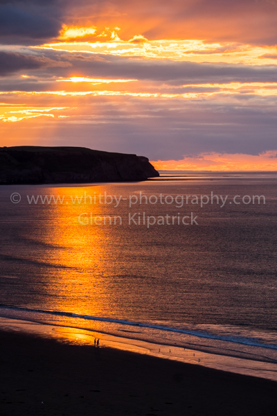 Whitby Sunset Taken From West Cliff