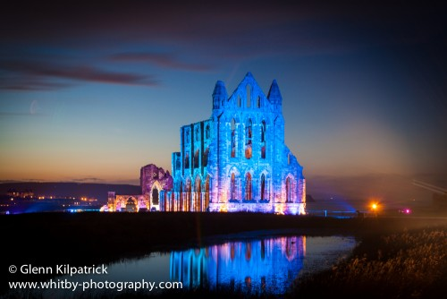 November - Whitby Abbey Illuminated For Goth Weekend.