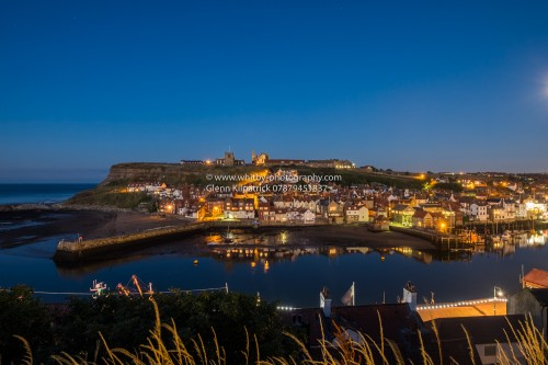 Whitby At Night - A Beautiful Photograph Of The Lower Harbour At Twilight