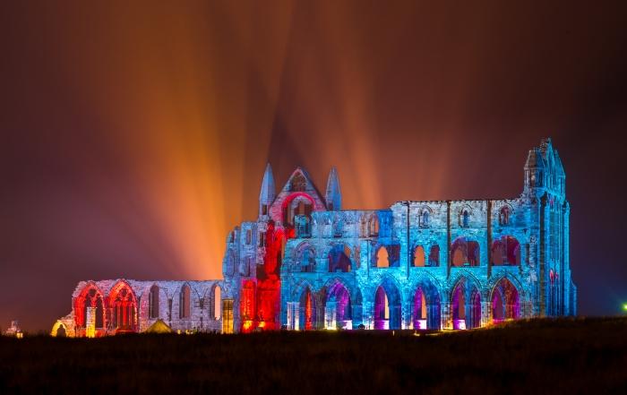 An Illuminated Whitby Abbey