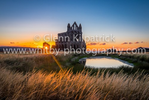 Whitby Abbey With Summer Sunset
