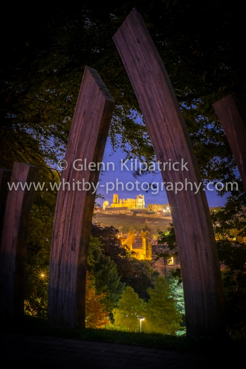 Whitby Abbey from Pannet Park through The Arch.