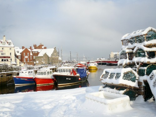 Whitby Dock End In the Snow