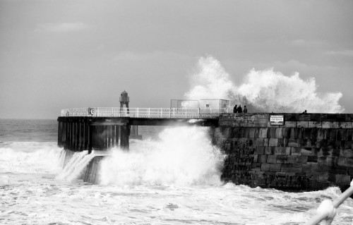 Rough Seas Hit Whitby West Pier