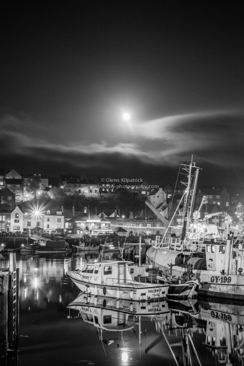Whitby Dock End Moonrise