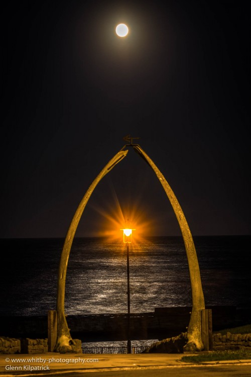 Christmas Eve Cold Full Moon At Whitby Whalebones.