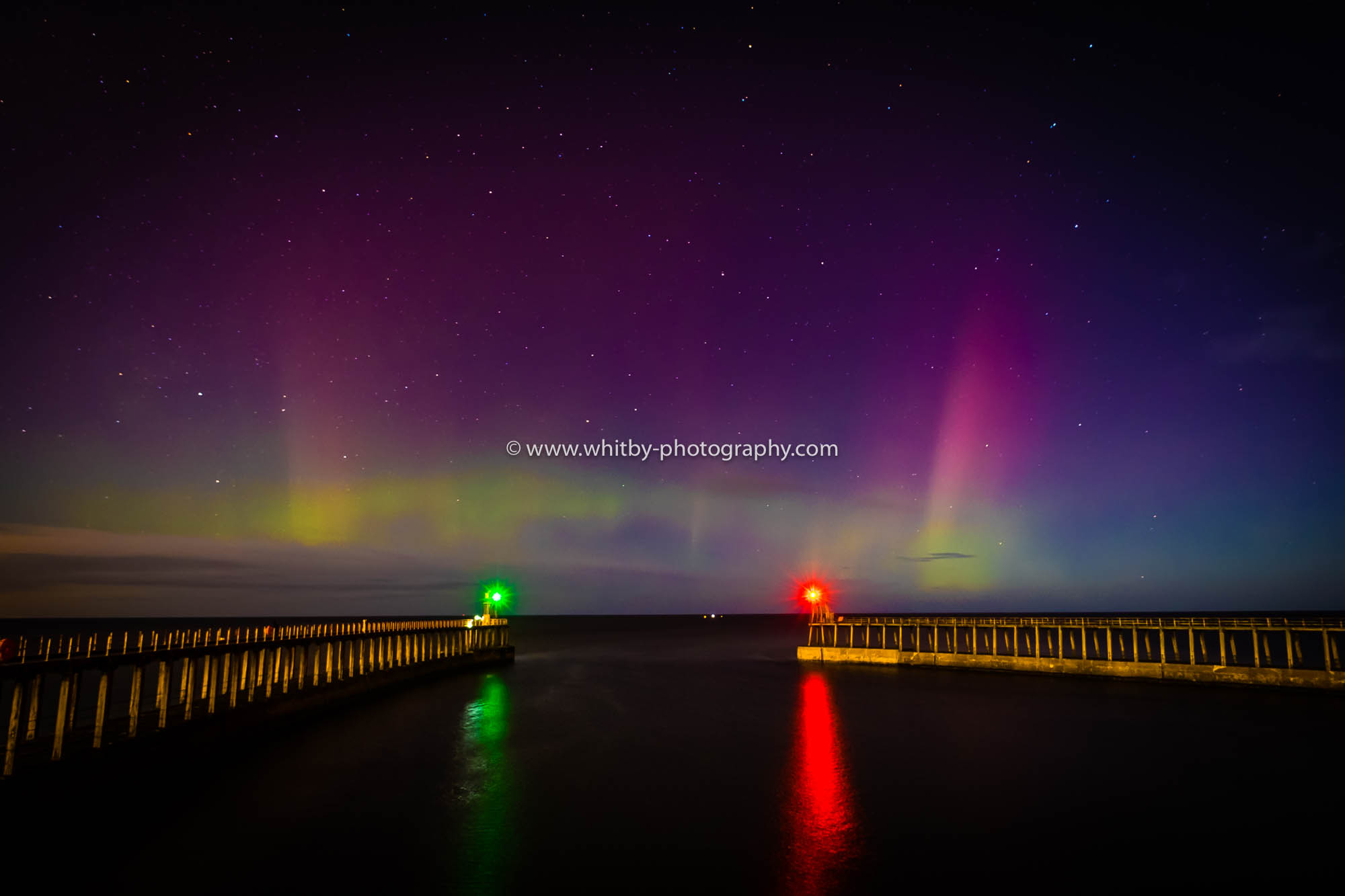 The Northern Lights At Whitby