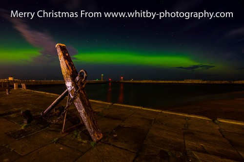 The Northern Lights From Tate Hill Pier At Whitby