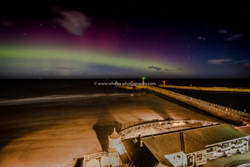 The Aurora Borealis At Whitby In North Yorkshire