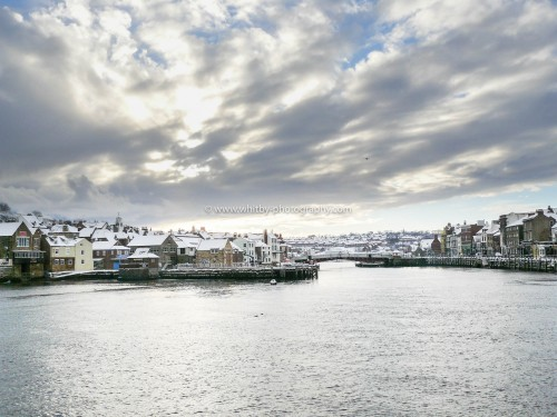 A Winter Snow Scene At Whitby
