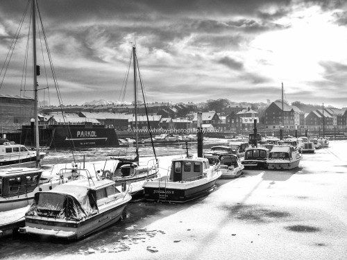 Parkol And The Upper Harbour - A Frozen Esk Scene.