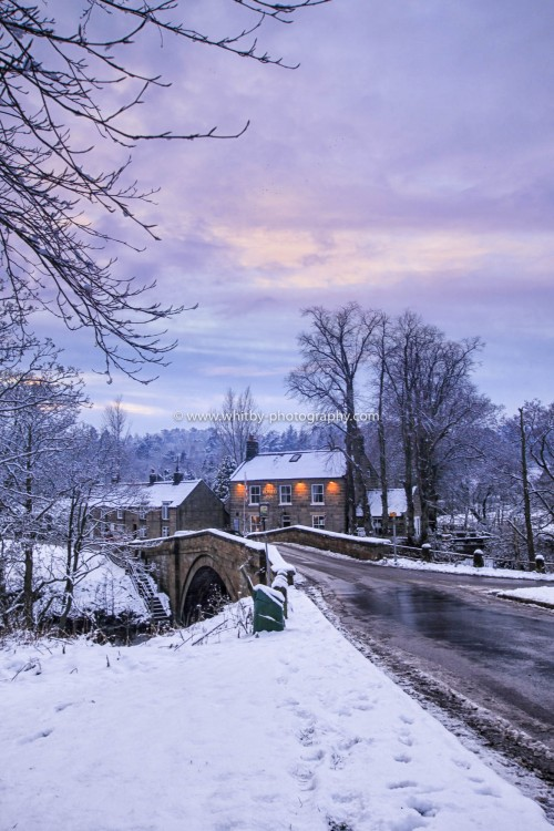 The Board Inn At Lealholme. Looking Stunning In The Winter Snow.