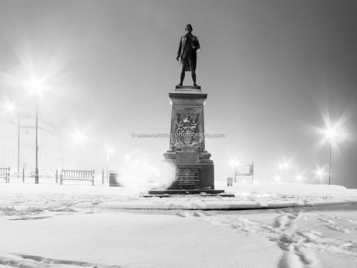 Captain Cook In A Full On Blizzard