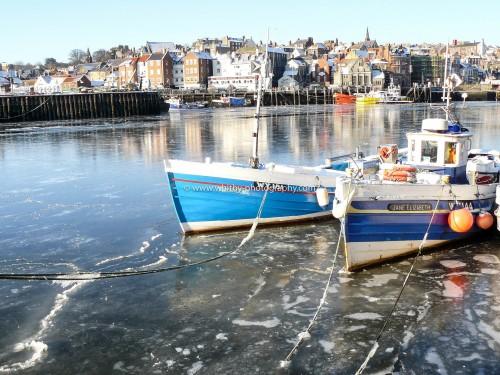 Whitby Cobbles On A Frozen River Esk