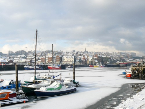 Yachts On The Frozen Esk At Whitby