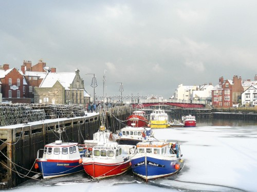 Whitby Harbour And Swing Bridge In The Snow