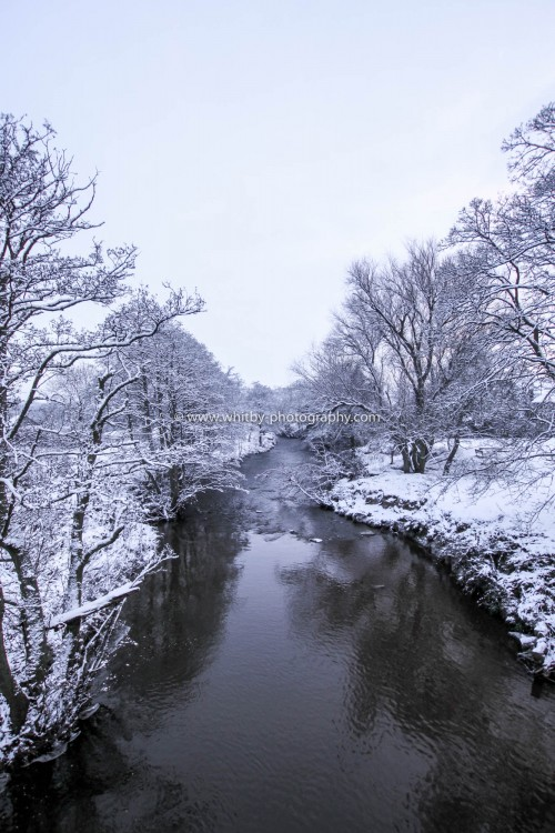 A Very Cold River Esk At Lealholme.
