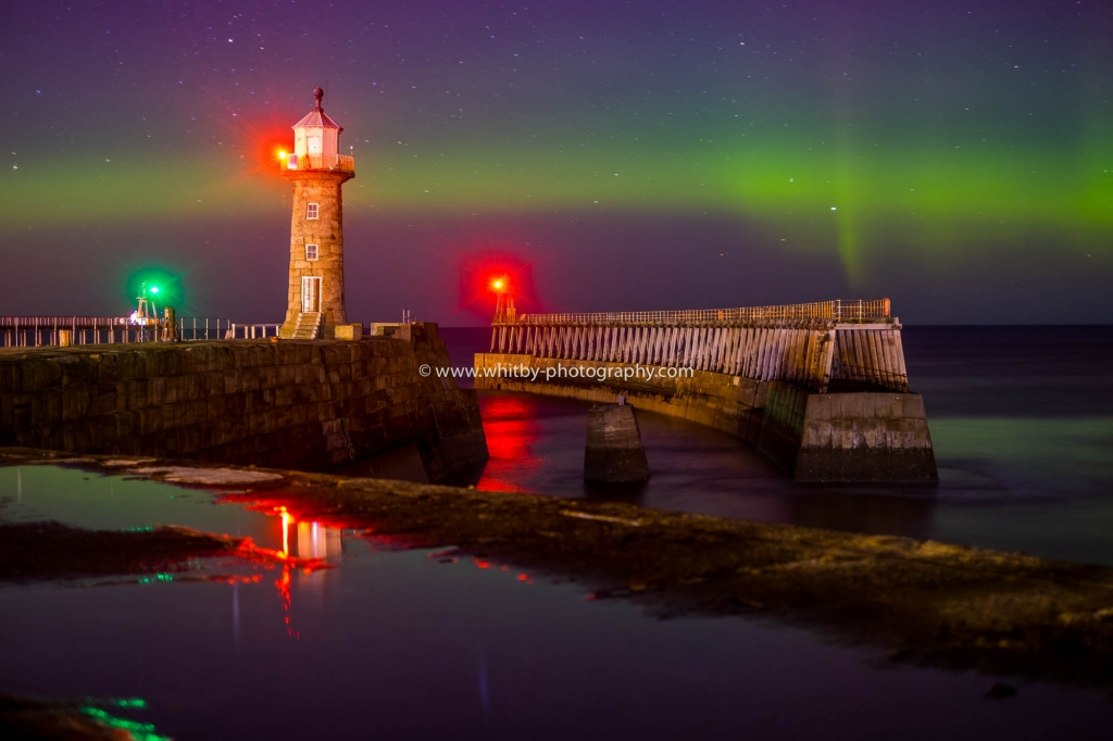 The Northern Lights At Whitby - New Years Eve 2015