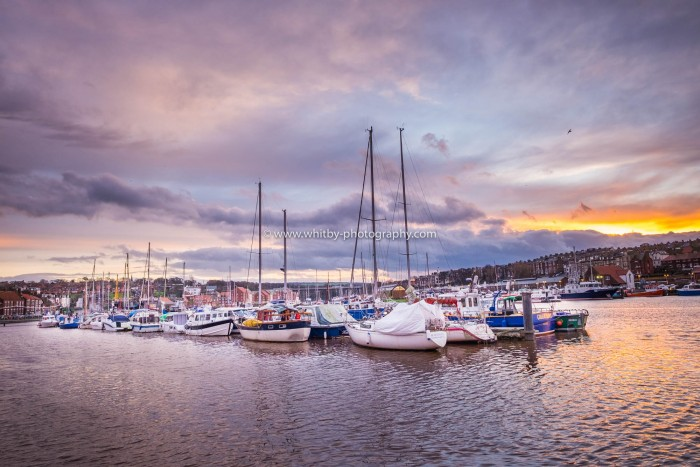 A Sunset Over the Upper Harbour At Whitby
