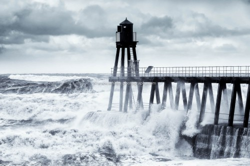 Northerly Swells Hit Whitby East Pier