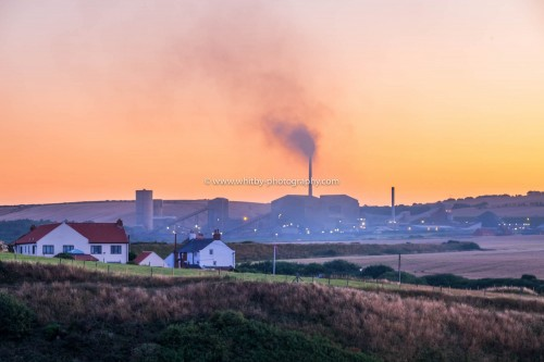 Boulby Potash Mine At Sunset