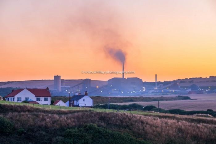 Boulby Potash Mine At Sunset
