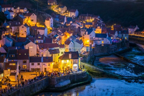 Staithes At Nightfall In Mid Summer