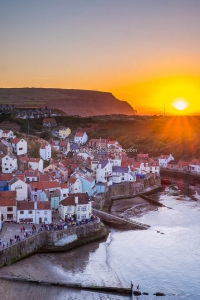 Staithes Village With A Boulby Sunset