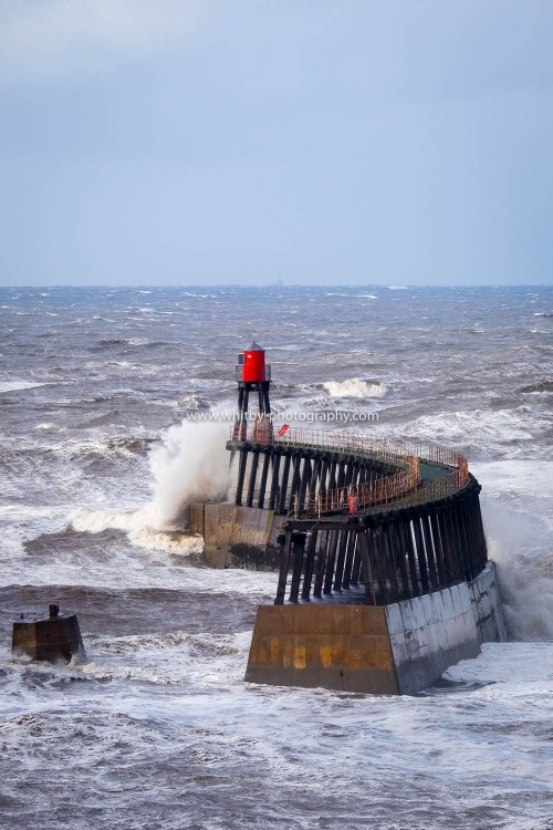 Whitby's East pier Extension. Closed To teh Public Since A Huge Wave Took Out The Bridge From the Stone Pier To The Outer extensions.