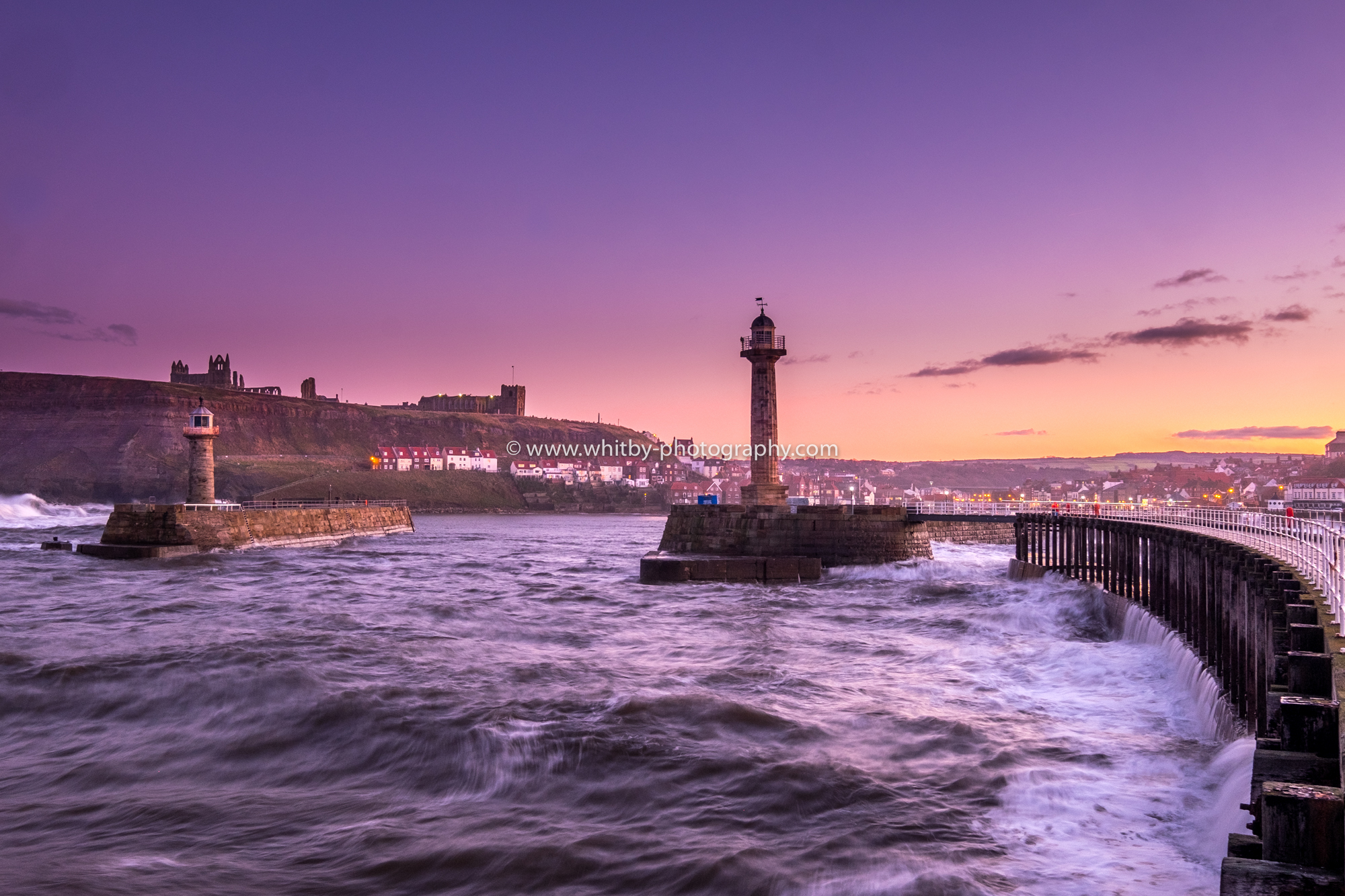 February Weather At Whitby - Long Exposures On A Rough Sea ...