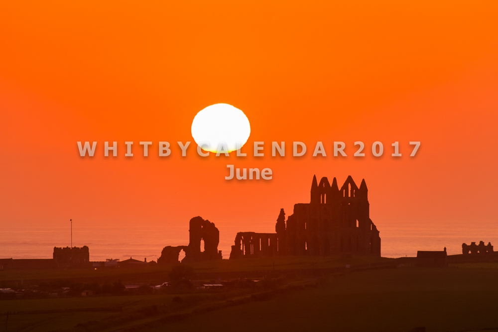 Whitby Calendar - Whitby Abbey At Sunset