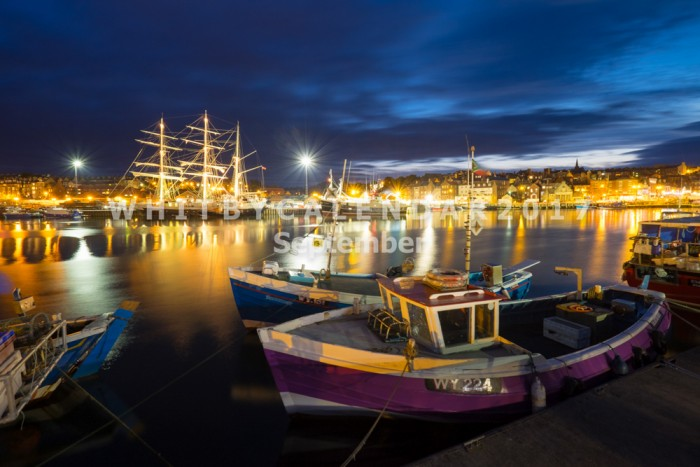 Whitby Calendar - The Sailing Ship Lord Nelson Anchored In Whitby's Upper Harbour