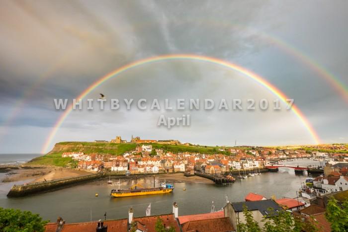 Whitby Calendar - Double Rainbow Over Whitby Abbey