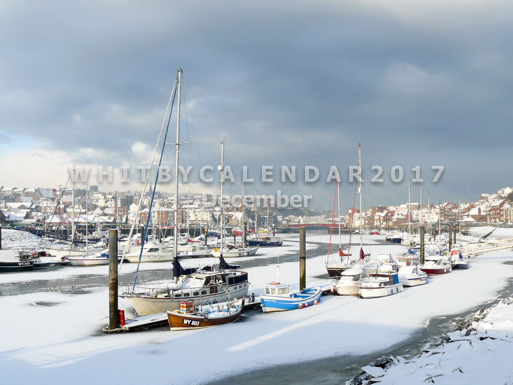 A Frozen River Esk In Whitby Harbour