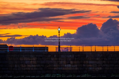 Colourful Skies Over Whitby West Pier.