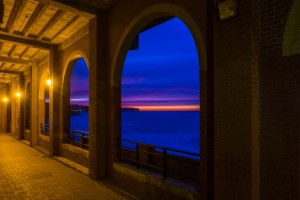 Sunset Through The Arches . Whitby Spa Pavillion