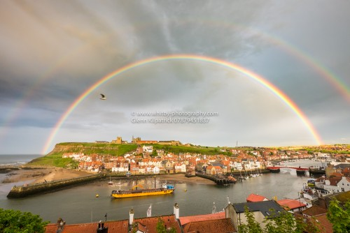 Whitby Double Rainbow photograph (1 of 1)