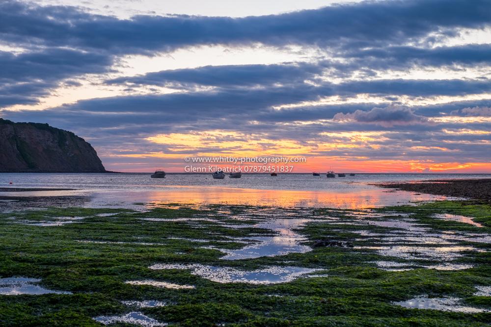 Robin Hoods Bay Sunrise At Landing Scar
