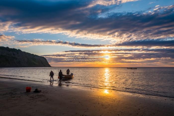 Early Morning Anglers At Robin Hoods Bay