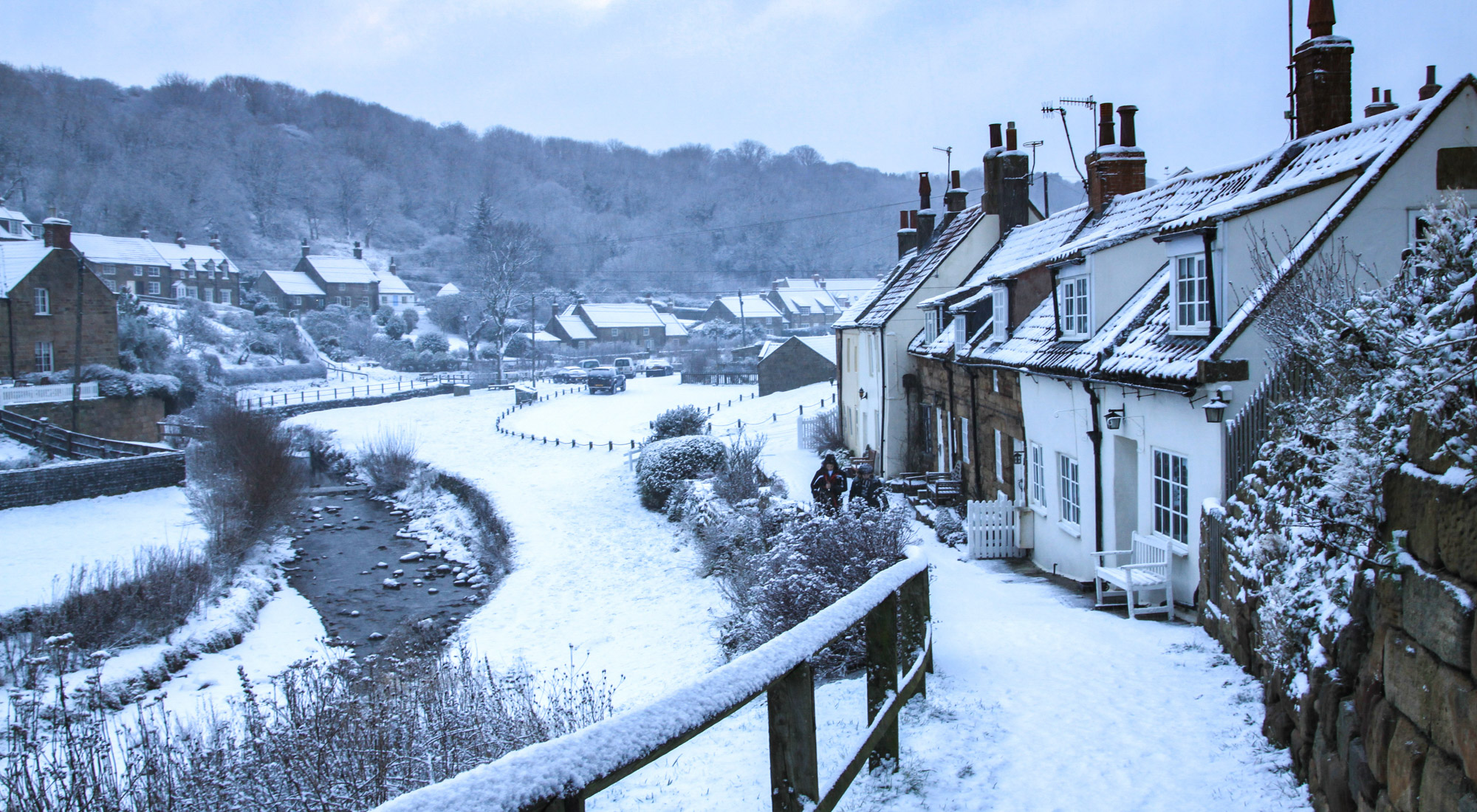 Sandsend In The Snow Whitby Christmas Cards
