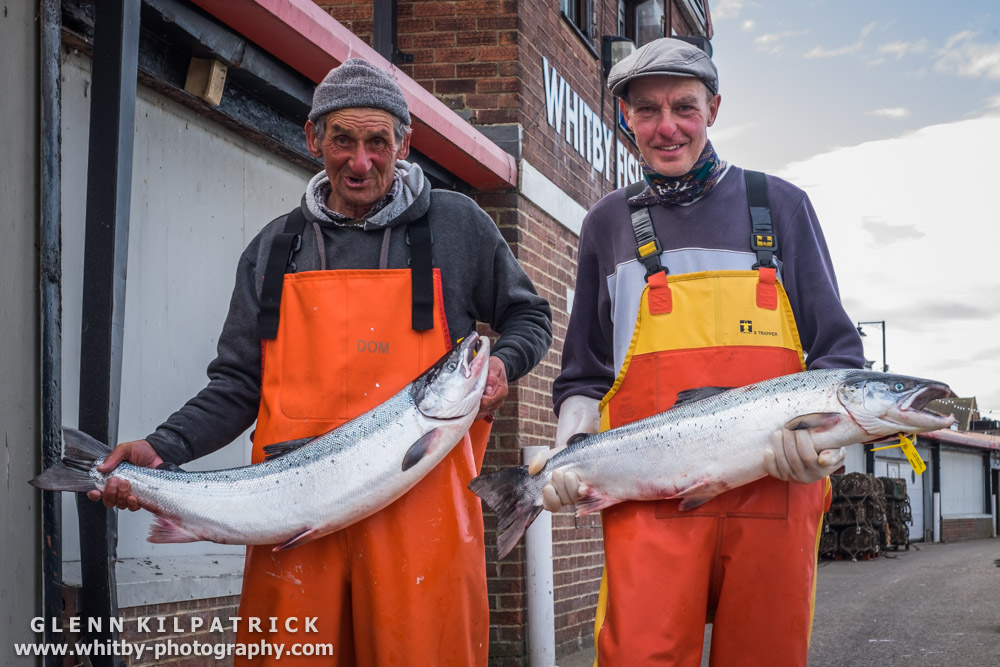Martin Hopper And Eckett Breckon With Some Of Their Catch - Two Twenty Pound Salmon