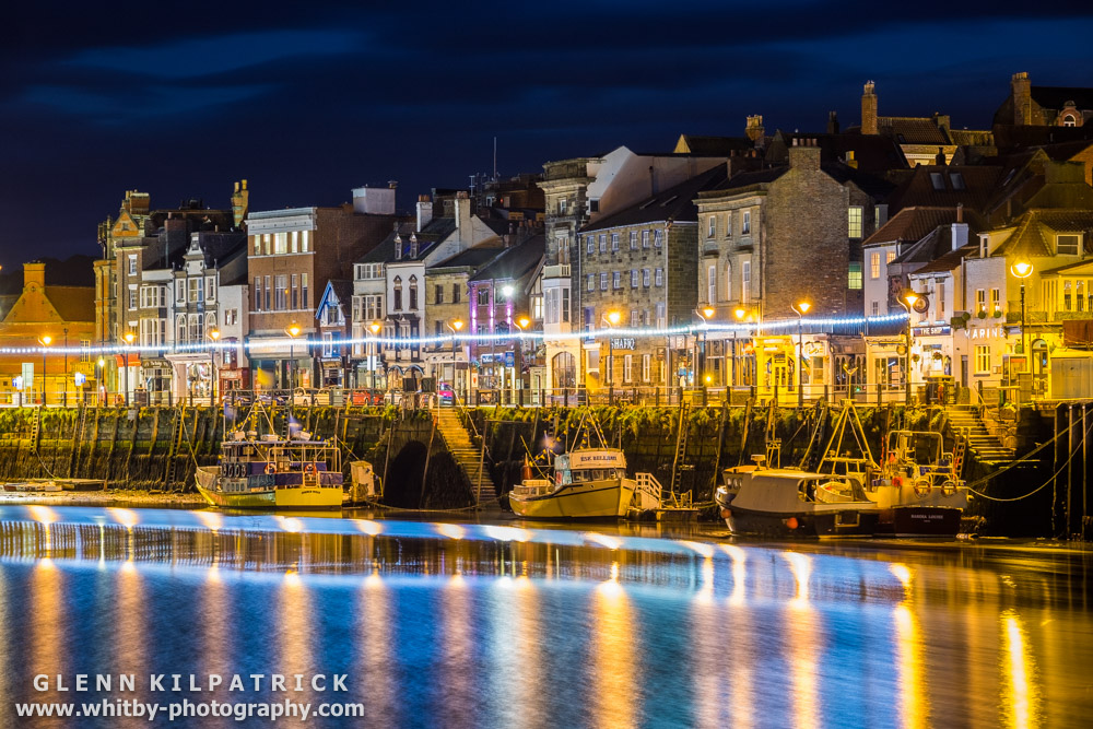 Whitby At Night - Twilight Photography - Whitby Photography