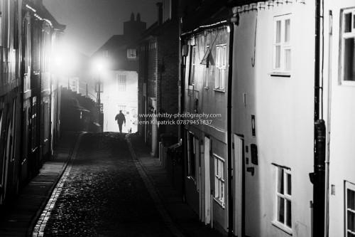 WHITBY A Lone Dog Walker On Henrietta Street