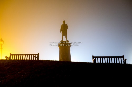 WHITBY - Captain Cook On A Misty Spring Evening